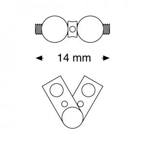 Leone tornillo en abanico en dos piezas a0815-14