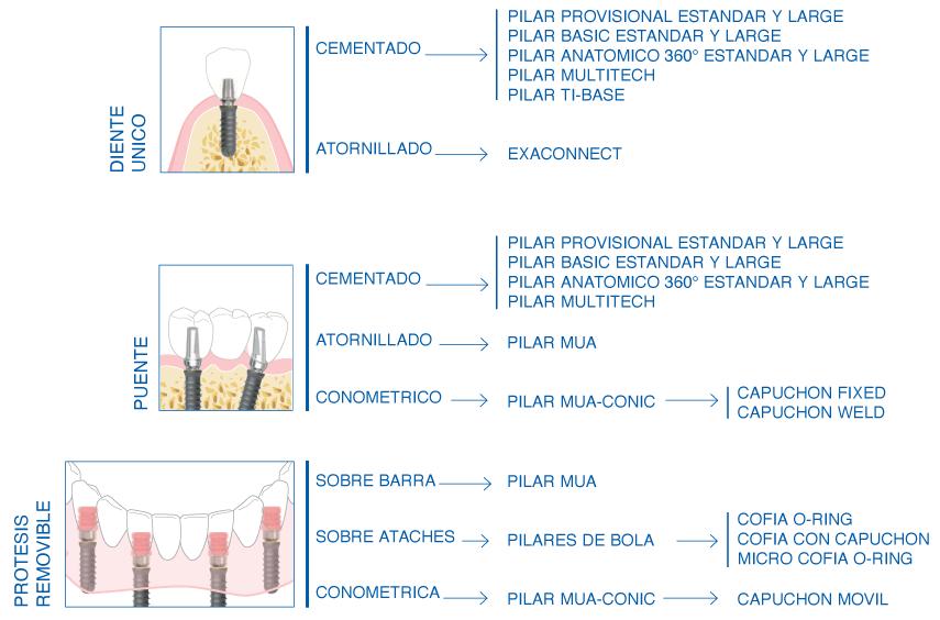 Versatilidad protésica