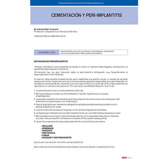 Cementación e implantitis
