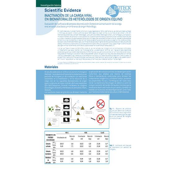 Inactivación de la carga viral en biomateriales heterólogos de origen equino